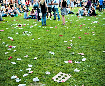 Festival waste